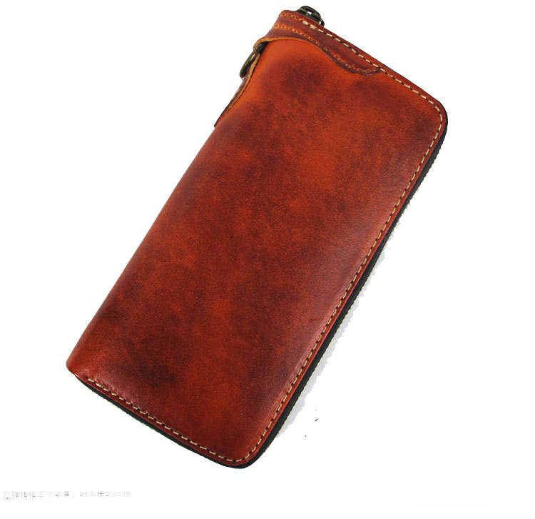 luxury vegetable tanned leather wallet