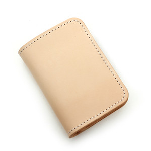luxury vegetable tanned leather card case bag