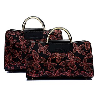 2020 butterfly pattern patent  leather handbags